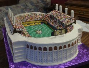 LSU Stadium Cake. My husband would die!