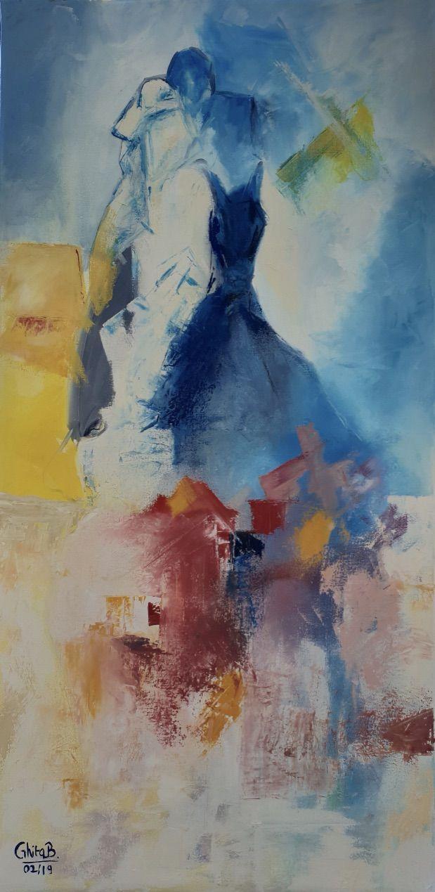 Le Cavalier Bleu Huile Cavalier Bleu Peinture Aquarelle