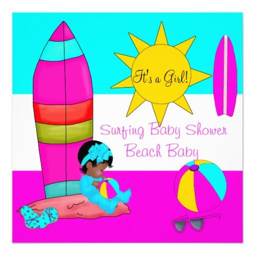 Summer Baby Shower Girl Beach Baby Surfing Baby 3