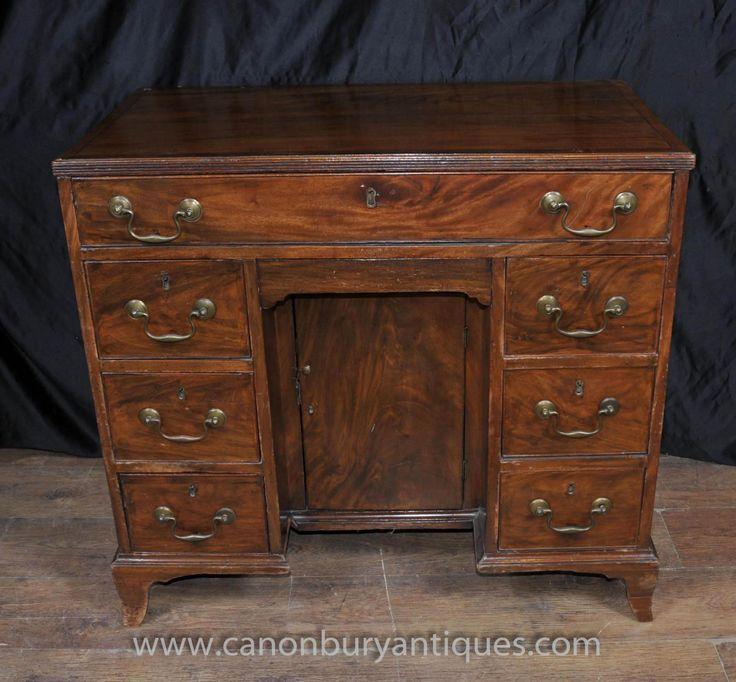 Photo of george iii mahogany knee hole desk bureau pedestal desks resolute deskpartners deskoffice sethome officepedestal deskantique
