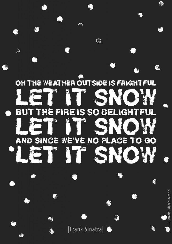 Poster #16 Let It Snow | Frank Sinatra | Portfolio 50 Liedjes Met Caracter