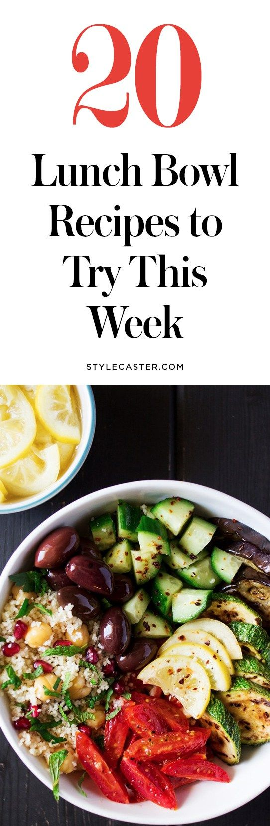 20 Easy and healthy lunch bowl recipes you'll LOVE | @stylecaster