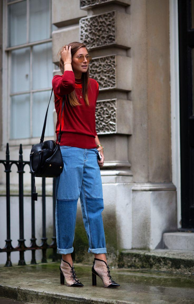 LFW-Topshop sweater, Sophia Webster booties