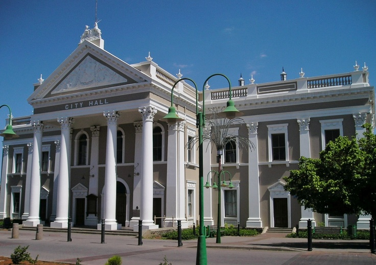 Kimberley. City Hall, Northern Cape, South Africa. Photograph by Martie van Niekerk