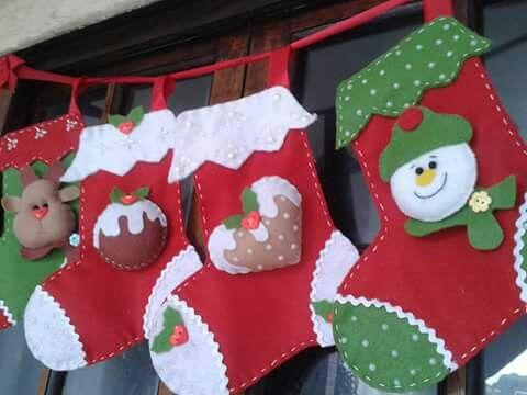 Bota de natal em feltro; stocking felt christmas