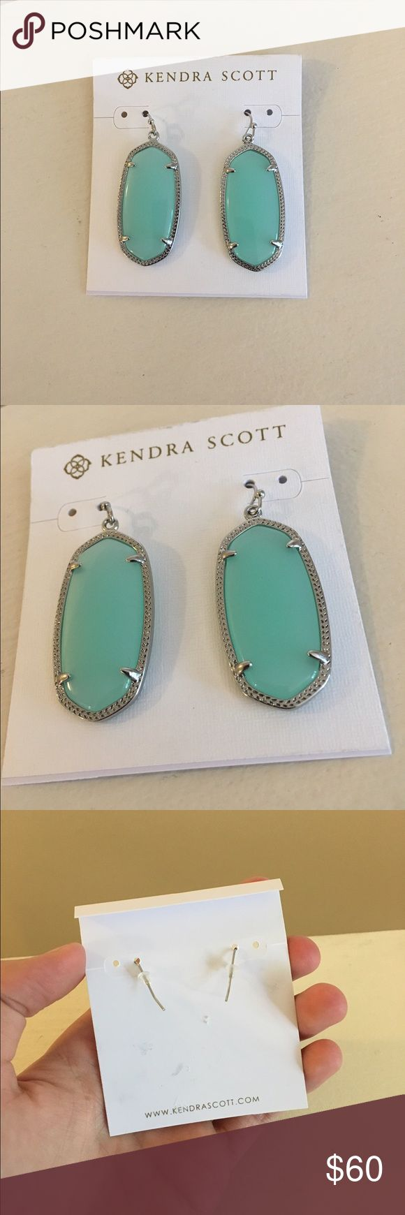 NWT Kendra Scott Earrings Turquoise and silver earrings by Kendra Scott in the style 'Danielle.' New with tags! Never worn, no flaws. Open to offers; bundles discounted! Kendra Scott Jewelry Earrings