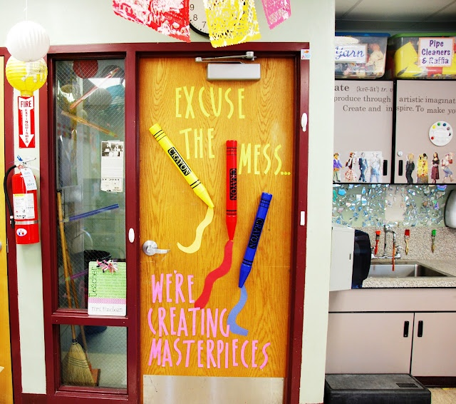13 best images about classroom doors on pinterest for Art room door decoration
