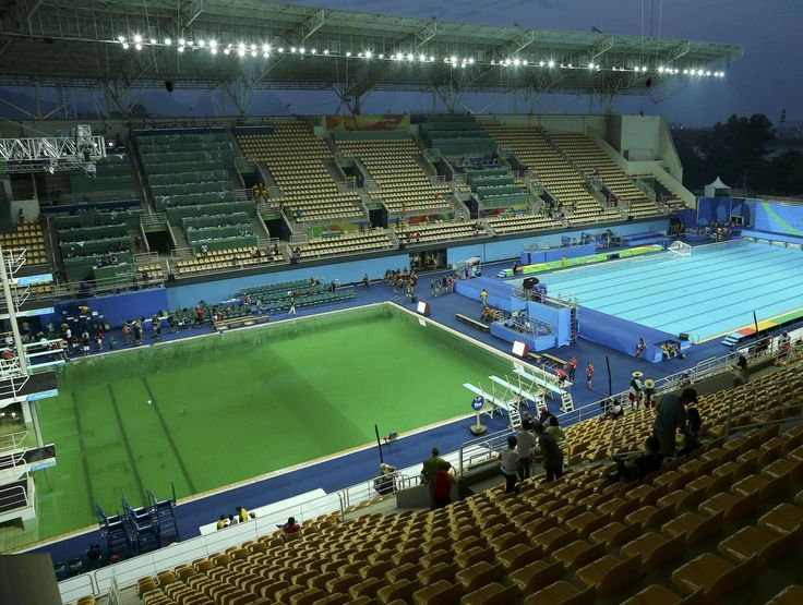 """The Rio Olympic diving pool """"the swamp"""" is finally being drained"""