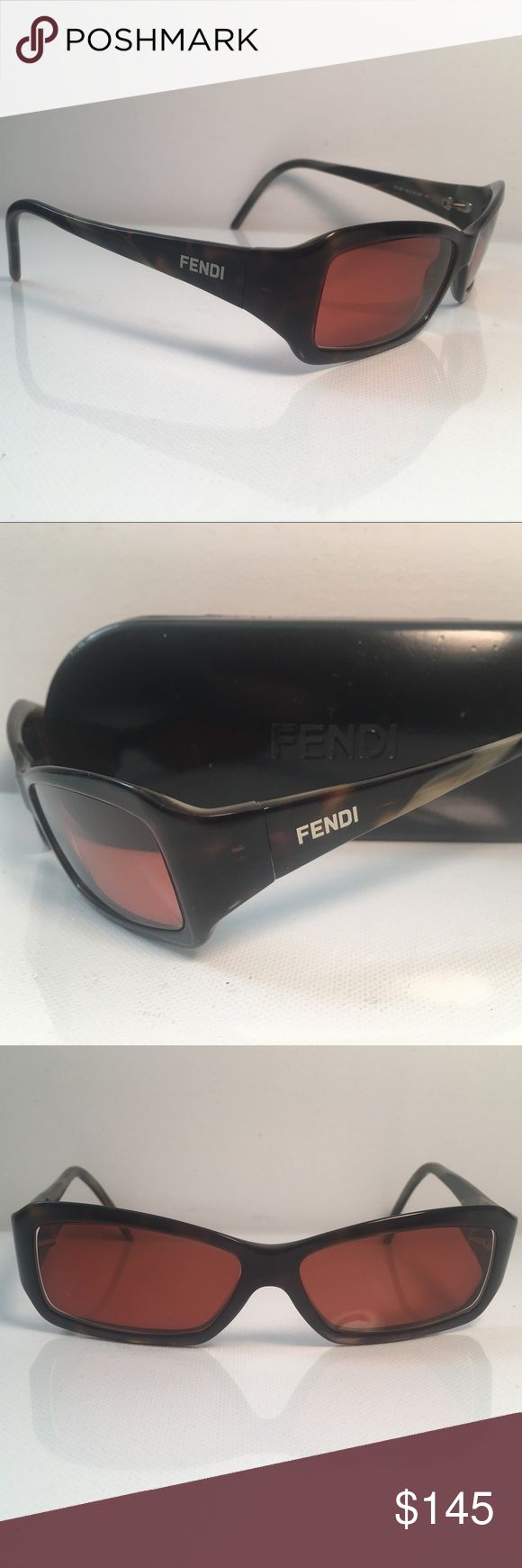Fendi Tortoise Sunglasses FS 320 🇮🇹 Fendi Tortoise Prescription Sunglasses FS 320 Italy 55 13 200 130. Look your best  on the beach with these Authentic Fendi FS 320 Prescription Eyeglasses.  Made in Italy 🇮🇹 EUC No scratches, comes with case and cleaning cloth Fendi Accessories Glasses