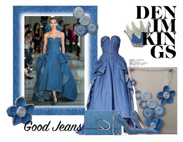 """All Denim : Evening dress"" by m-illumino-di-glamour ❤ liked on Polyvore featuring Carolina Herrera, 3.1 Phillip Lim, dgia, sarahguo, petalp and Nanawidia"