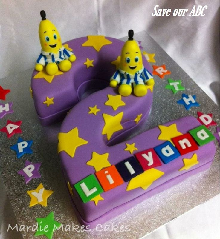 """Banana's in Pyjamas Cake by Mardie Makes Cakes In Australia we are losing funding to our independent television channel The ABC. I am starting a collection of photos from our local  Cake Decor in Cairns home baking mums and dads to support the facebook page (not run by me) """"Australians Baking Cakes for the ABC.  http://www.cakedecorcairns.com/2014/06/australians-baking-cakes-for-abc.html"""