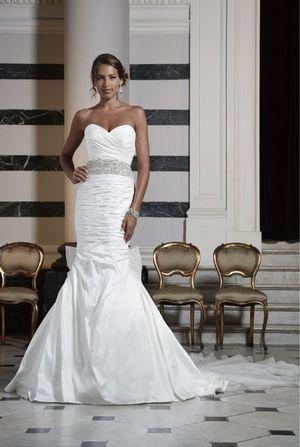 Édesem sellő esküvői ruha Natural Derék organza.  Menyasszonyi ruha stílus…