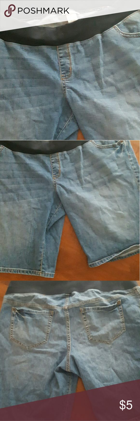 Denim Maternity Shorts Denim maternity shorts could also be used as plus shorts Liz Lange for Target Shorts Jean Shorts