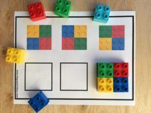 Juego de patrones con ladrillos LEGO DUPLO - MOM BRICKS