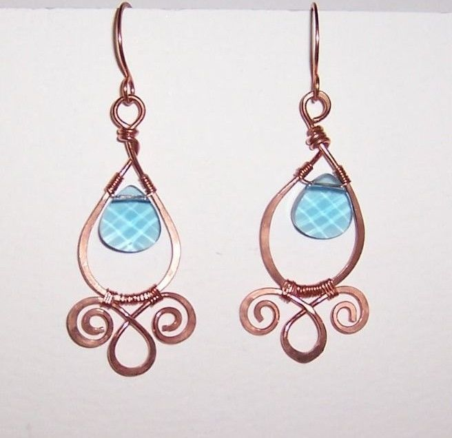 32 best Wire Wrapped Earrings images on Pinterest | Wire jewelry ...