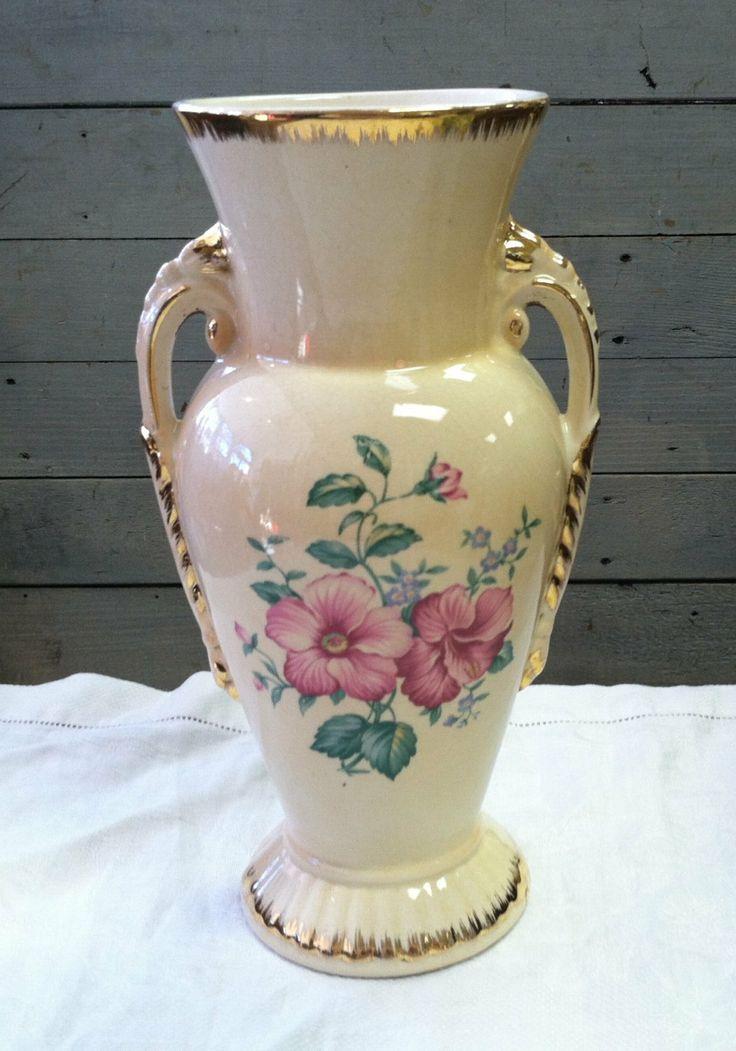 Circa 1940's Spaulding China Flower Vase by Shabadashery on Etsy, $23.00
