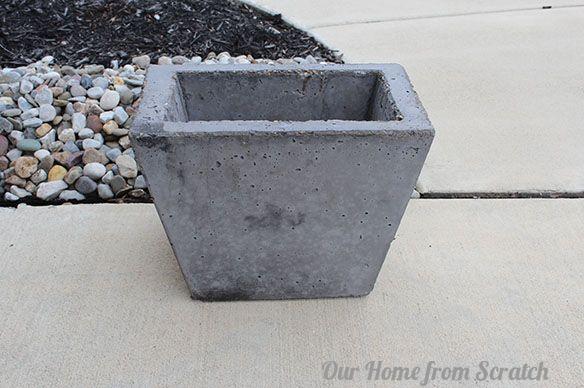 We show you how to make a DIY concrete planter.