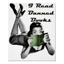 Banned Books Print by Jaenne