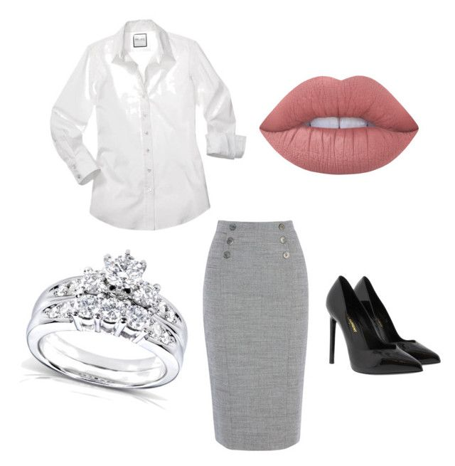 """""""Kit[1]"""" by agentpalmer on Polyvore featuring Yves Saint Laurent, Lime Crime and Kobelli"""