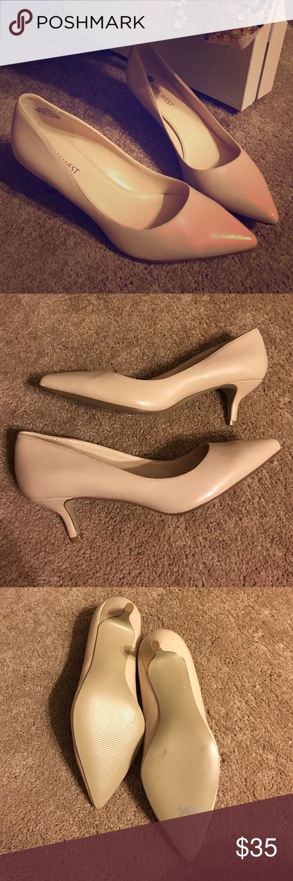 NWOT Nine West Pumps New without tags Nine West short heel pumps. Never worn only tried on. They are a tad too small for me. Nine West Shoes Heels