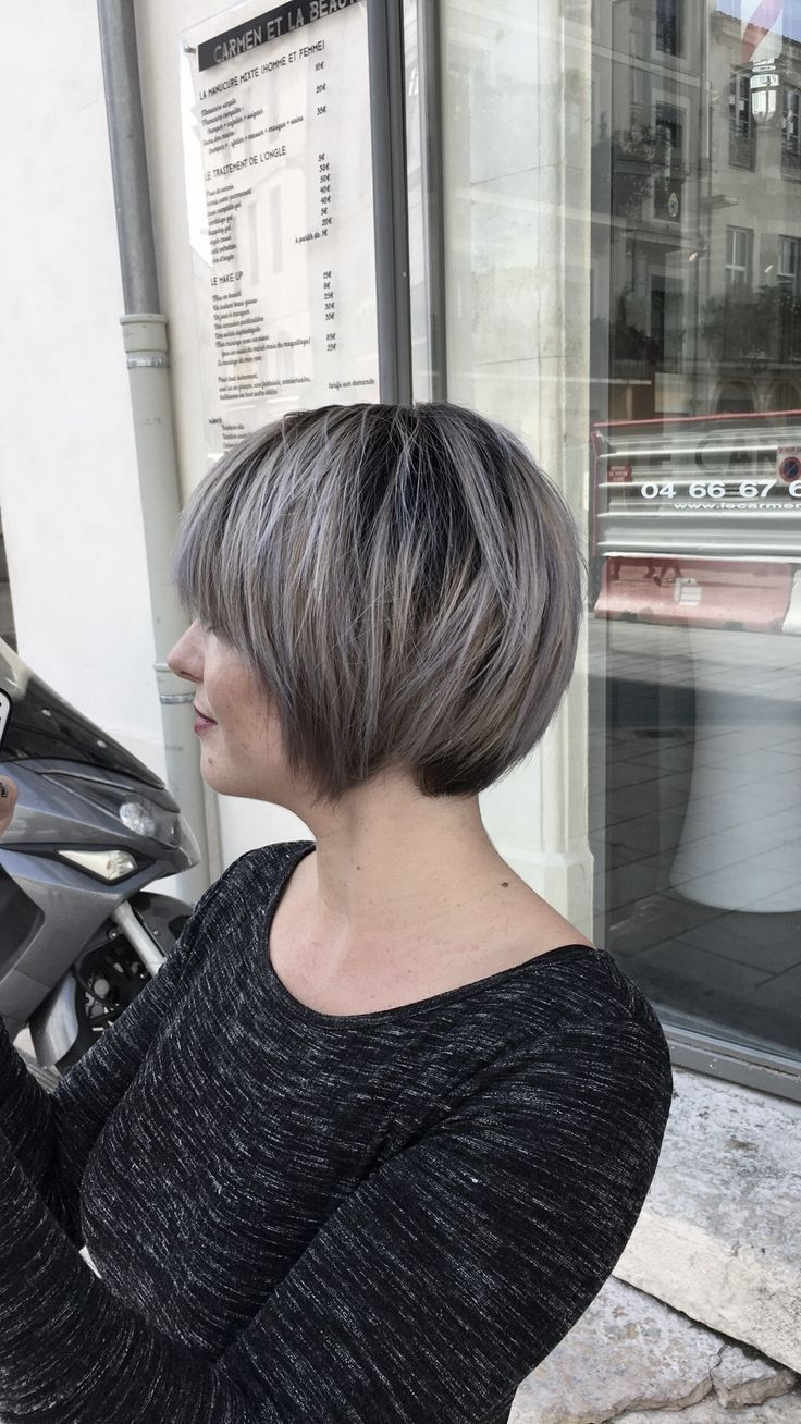 Pin by Thibaut Martinez on My création  Balayage , ombre hair , Blond froid  , carré wavy , Blond Blanc , Blond pastel