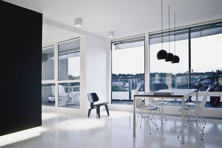On the top of one the few high-rise buildings in Frederiksberg, Copenhagen, the interior of this penthouse has been completely redone. The apartment has a stunning view overlooking the city to both sides. The clients dream was a completely...