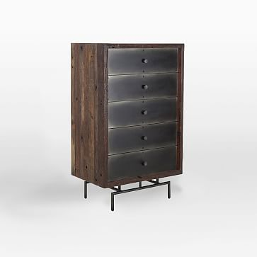Steel Facade 5-Drawer Dresser #westelm