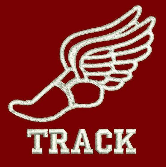 Track and field shoes with wings