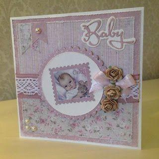 Randis hobbyverden: Baby kort med Maja design nr 2