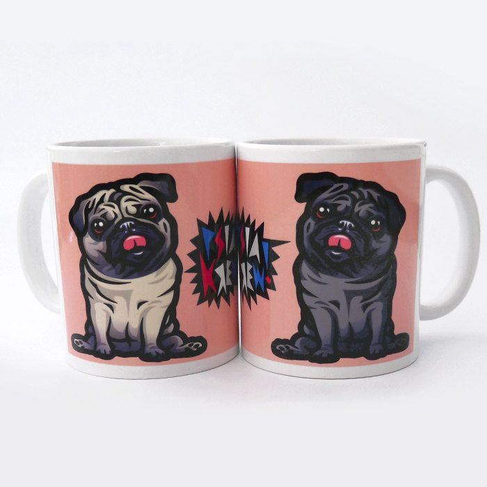 Mug Pug Mops Carlin Dog  Mascot by PSIAKREW on Etsy