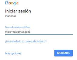 Resultado de imagen para gmail.com correo electronico entrar
