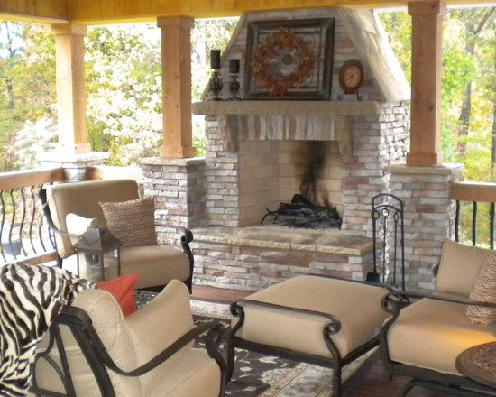 Porch Outdoor Chimney Design, Pictures, Remodel, Decor And Ideas
