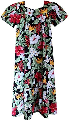 New Mid-Calf Tropical Garden Floral Hawaiian Muumuu Fashion womens dresses. [$54.95] topbrandspremium offers on top store