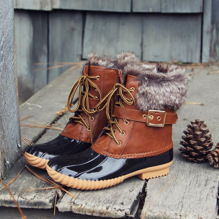 The Caribou Fringe Boot, Fall & Winter Duck Boots from Spool No.72. | Spool No.72