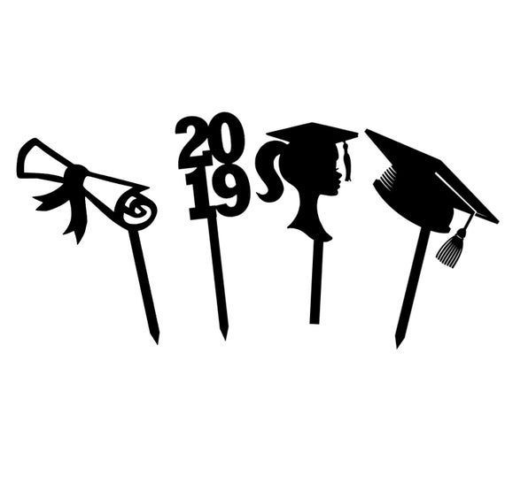 Graduation Cupcake Toppers (12) Graduation Party Cupcake Toppers Graduation decor Graduation ...