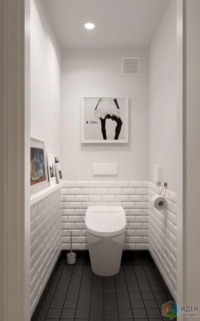 Нравится этот туалет. Белый цвет тоже хорошо смотрится. Плитка на полу - в общей плиточной гамме квартиры должны быть)))  Мы пришли к выводу, что все-таки мы любим ромбы, клетки и тп. Половина стены тоже белая плитка, такая как на картинке. Вторая половина краска