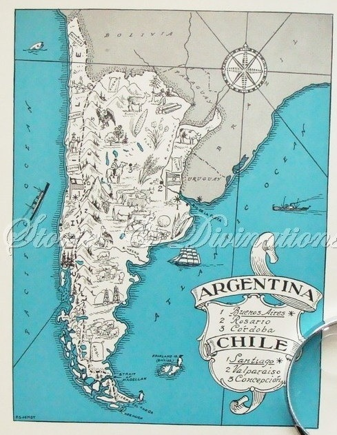 Best Chile Maps Images On Pinterest Chile Maps And Travel - Argentina map vintage