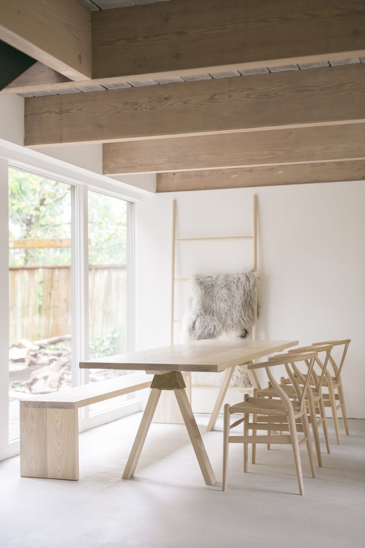 Lock And Mortice Build Co Table In Amercian Ash With Bronze Y Joint By Studio Henry Wilson Architecturescott Scott Grouse Mountain House
