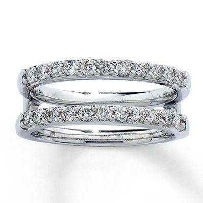 diamond enhancer ring 12 ct tw round cut 14k white gold