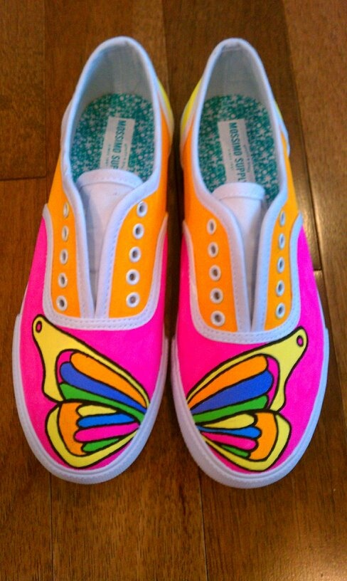 Butterfly Shoes $20.00 Hand painted (Mossimo Supply Co., Size 6)