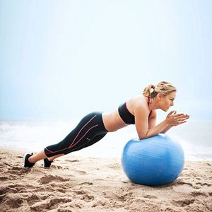 Olympic Skier Lindsey Vonn's Lower-Body Workout: Plank-Up