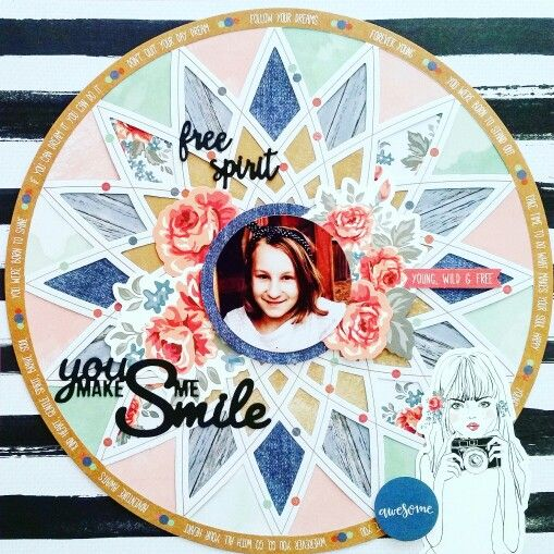 Kaisercraft : Boho Dreams Collection : Round 2 DT application for 2016/17: You Make Me Smile layout by Amanda Baldwin