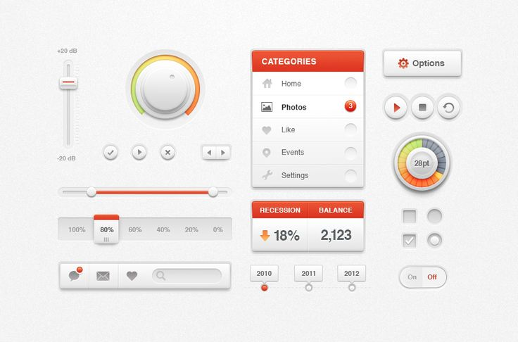 White Ui Kit / Creative Mints #UI #elements #Kit