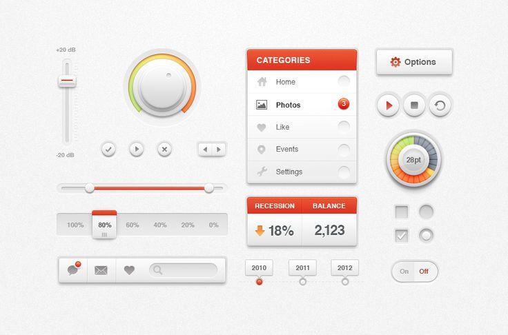 White Ui Kit / Creative Mints #UI #elements #Kit