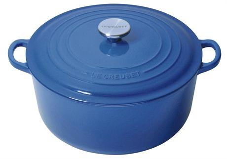 Emaljerad gjutjärnsgryta 4,2 liter rund marseille/blå, Le Creuset