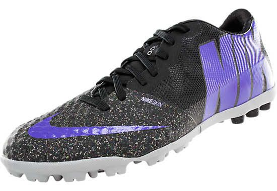 Nike FC247 Bomba Finale II Turf Soccer Shoes - Black with Purple...Available at SoccerPro now.