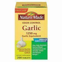 Nature Made Herbs Odorless Garlic 1250mg 200 Tablets * Want additional info? Click on the image. (It is an affiliate link and I receive commission through sales)