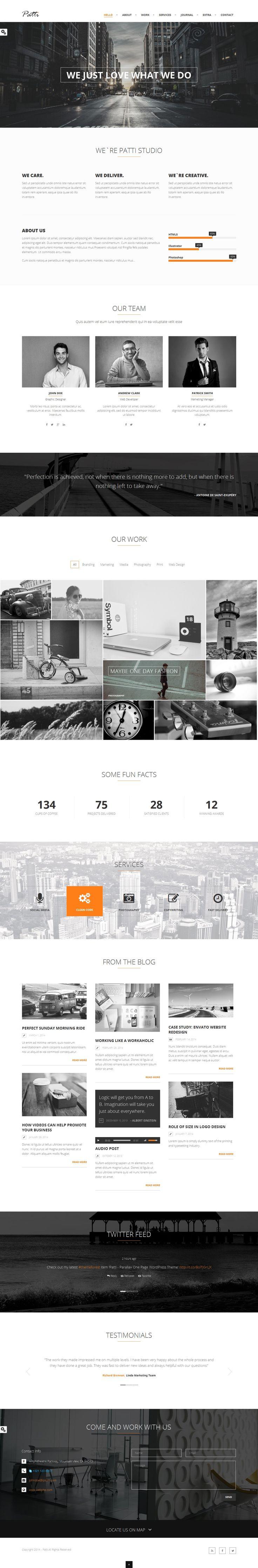 15 TOP Creative Premium WordPress Themes of 2014 #web #design