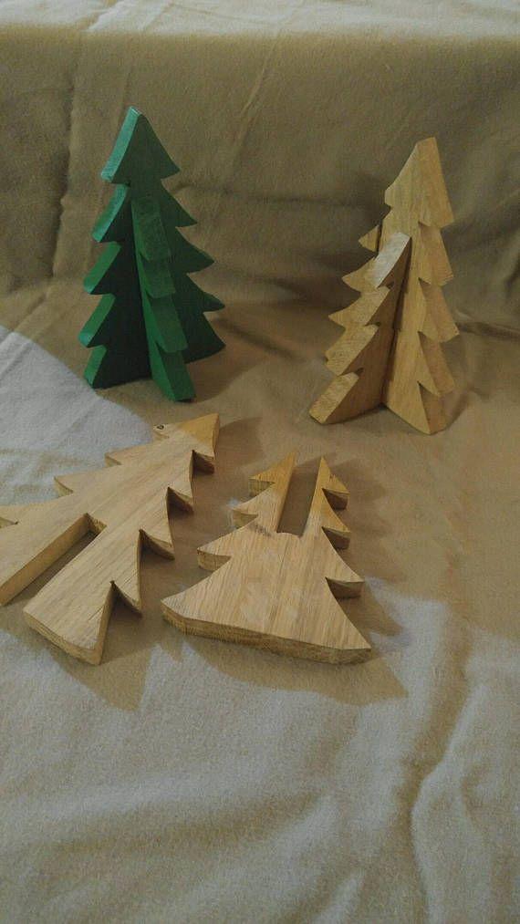 Pallet wood christmas tree table top decor