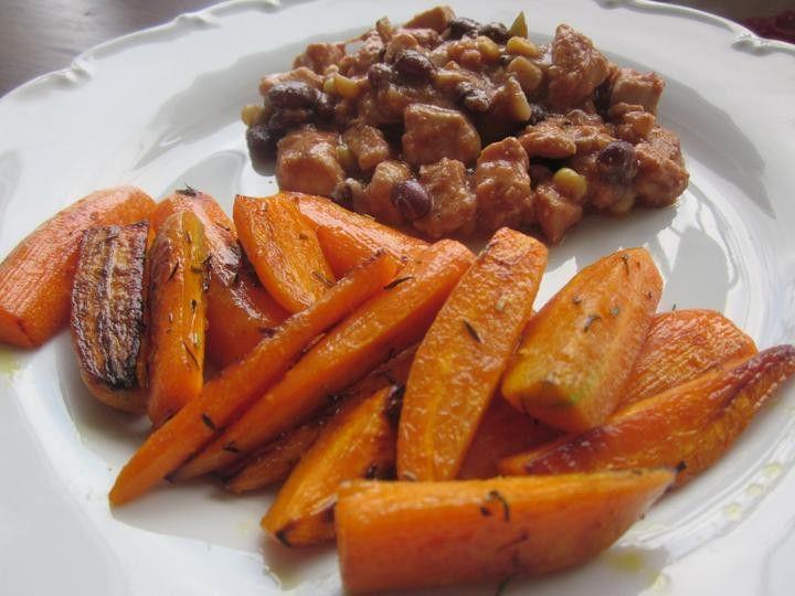 Zdravější varianta chutného obědu. Vyzkoušejte mrkvové hranolky, jsou luxusní. Autot: Wiwuska